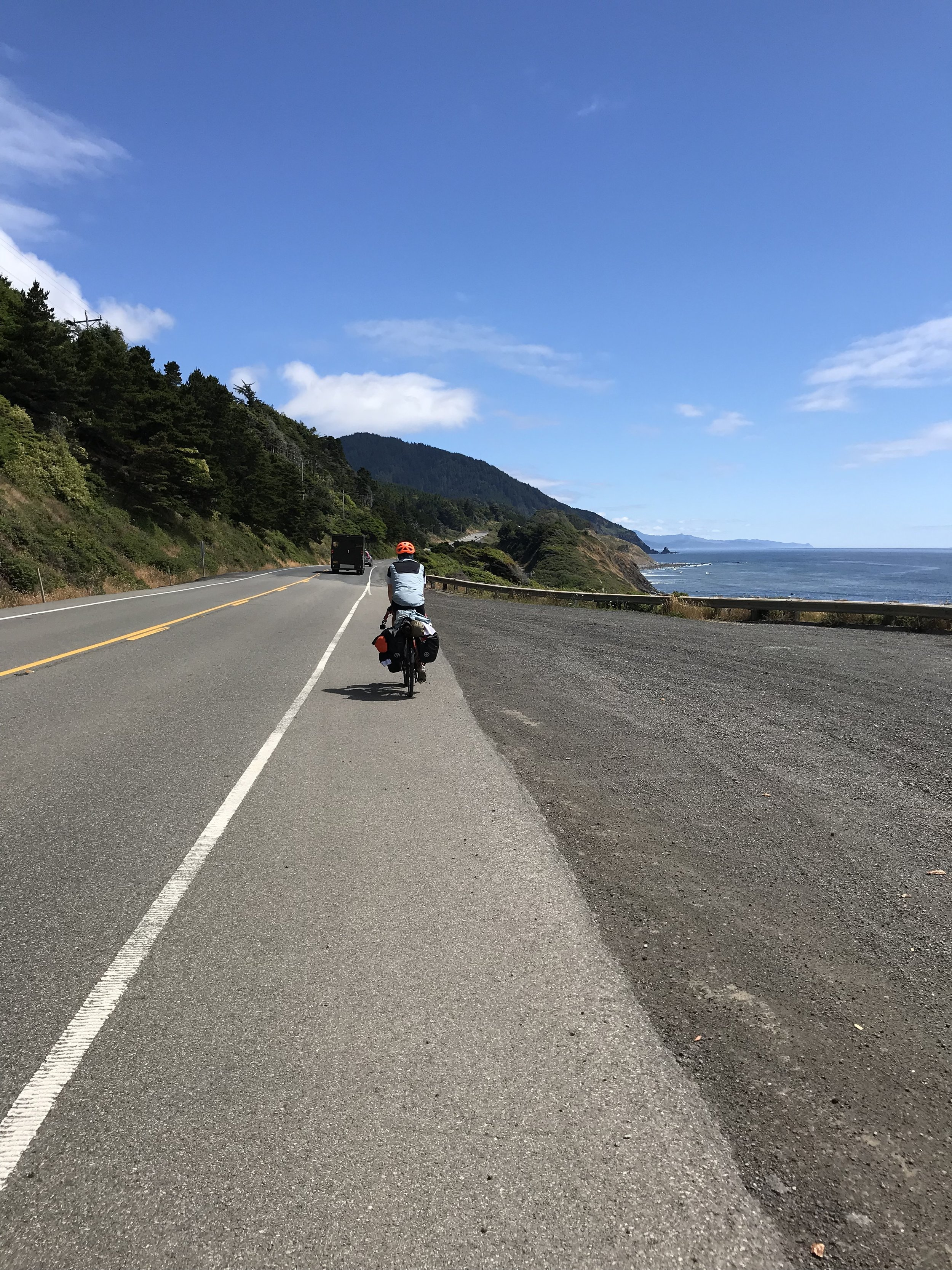 Friday we rode to Humbug Mountain and stayed at the state park there.