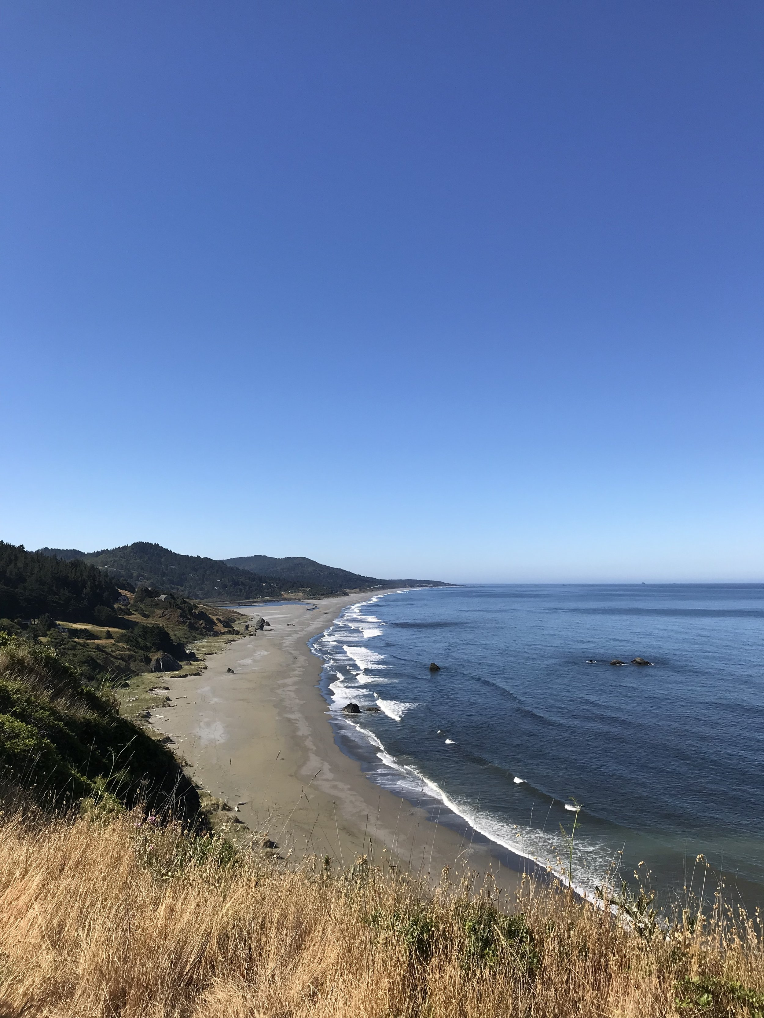 The coastline near Gold Beach. The pictures don't do it justice - the views were incredible today.