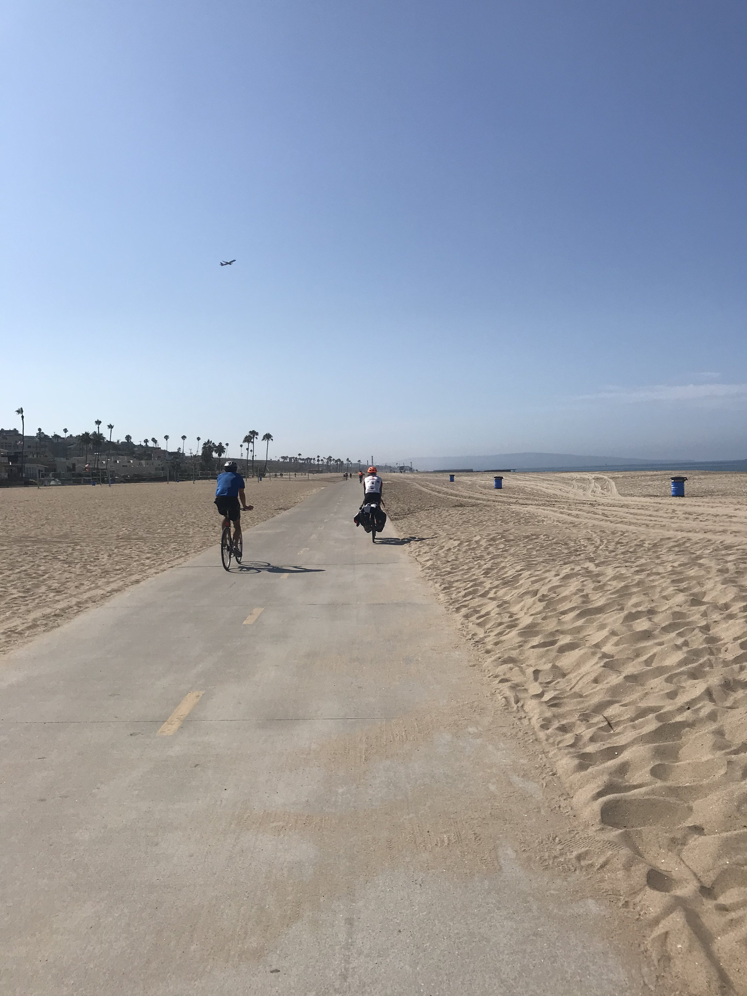 Lots of riding on the beach through LA!