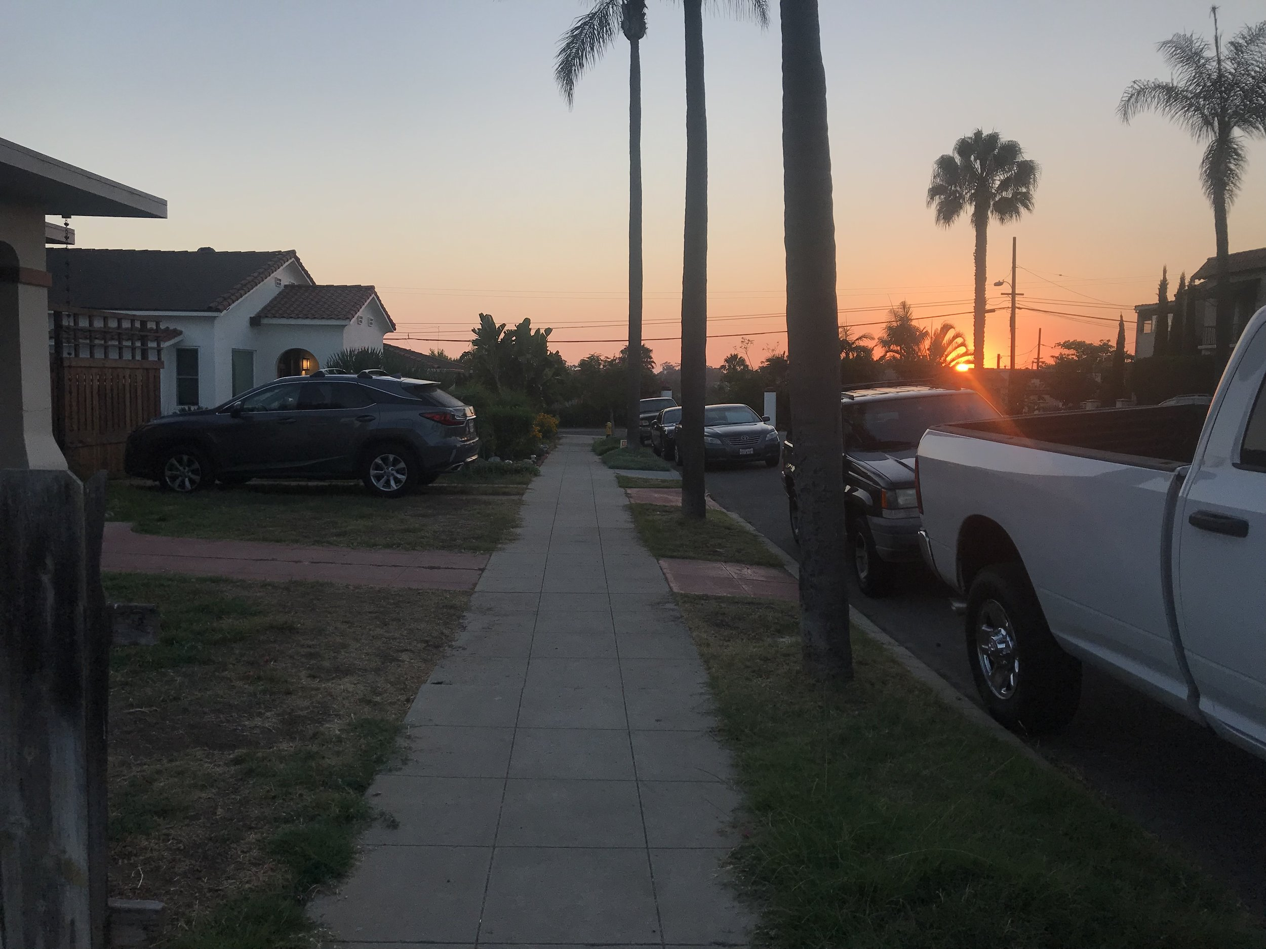 The neighborhood we're staying in in San Diego.