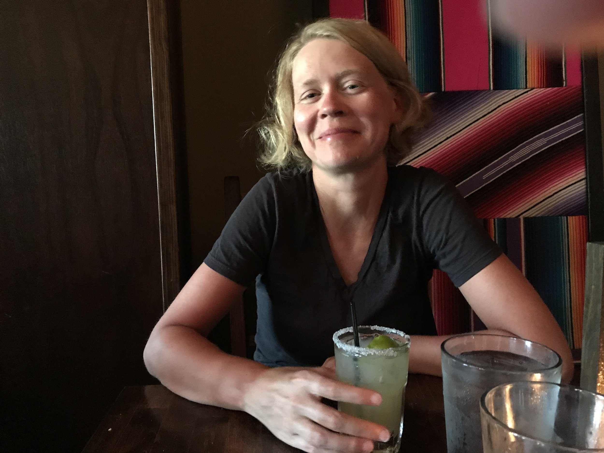 Celebrating Friday night with one well-earned margarita. Not pictured: how we promptly fell asleep at 8:30pm that night.