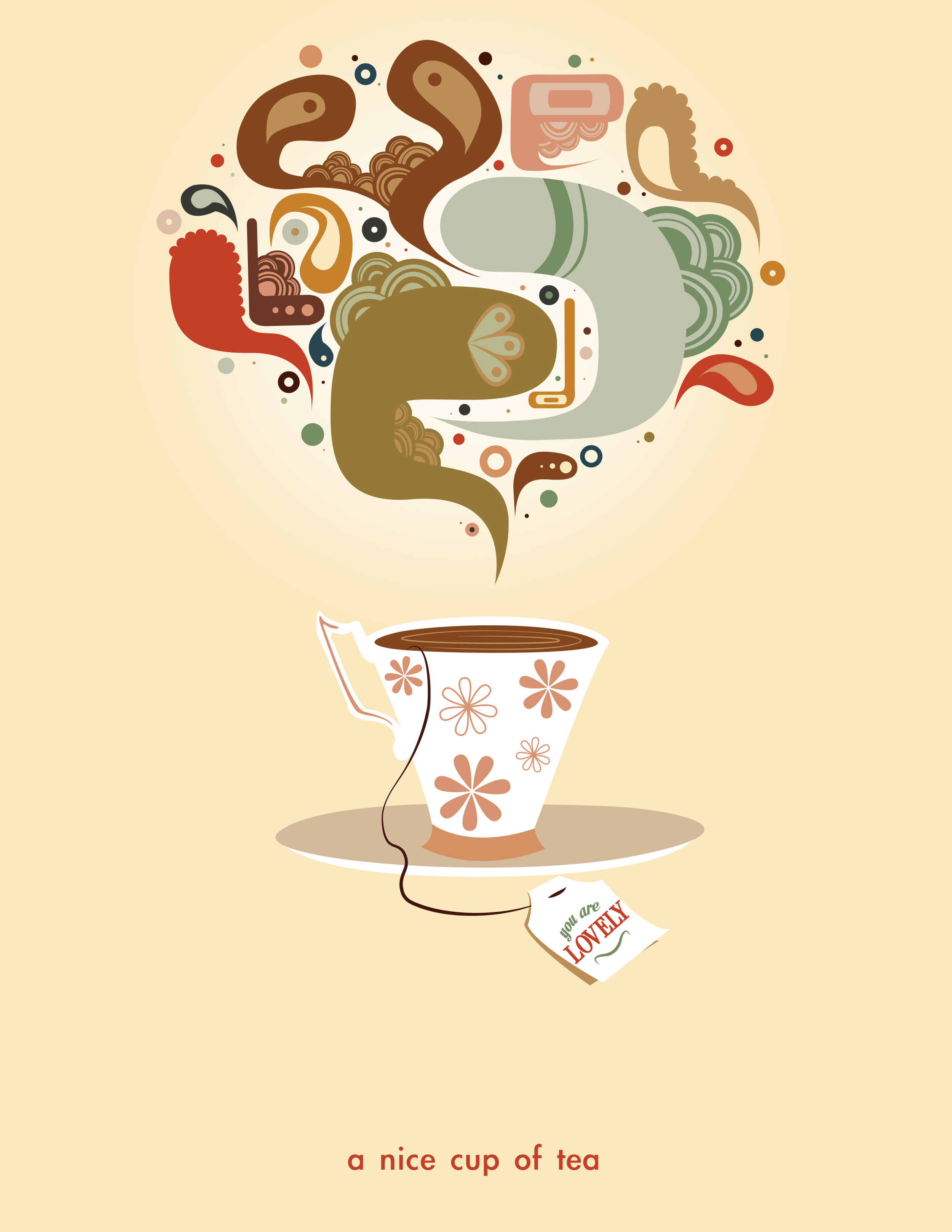 """Nice Cup of Tea"" Illustrative designs"