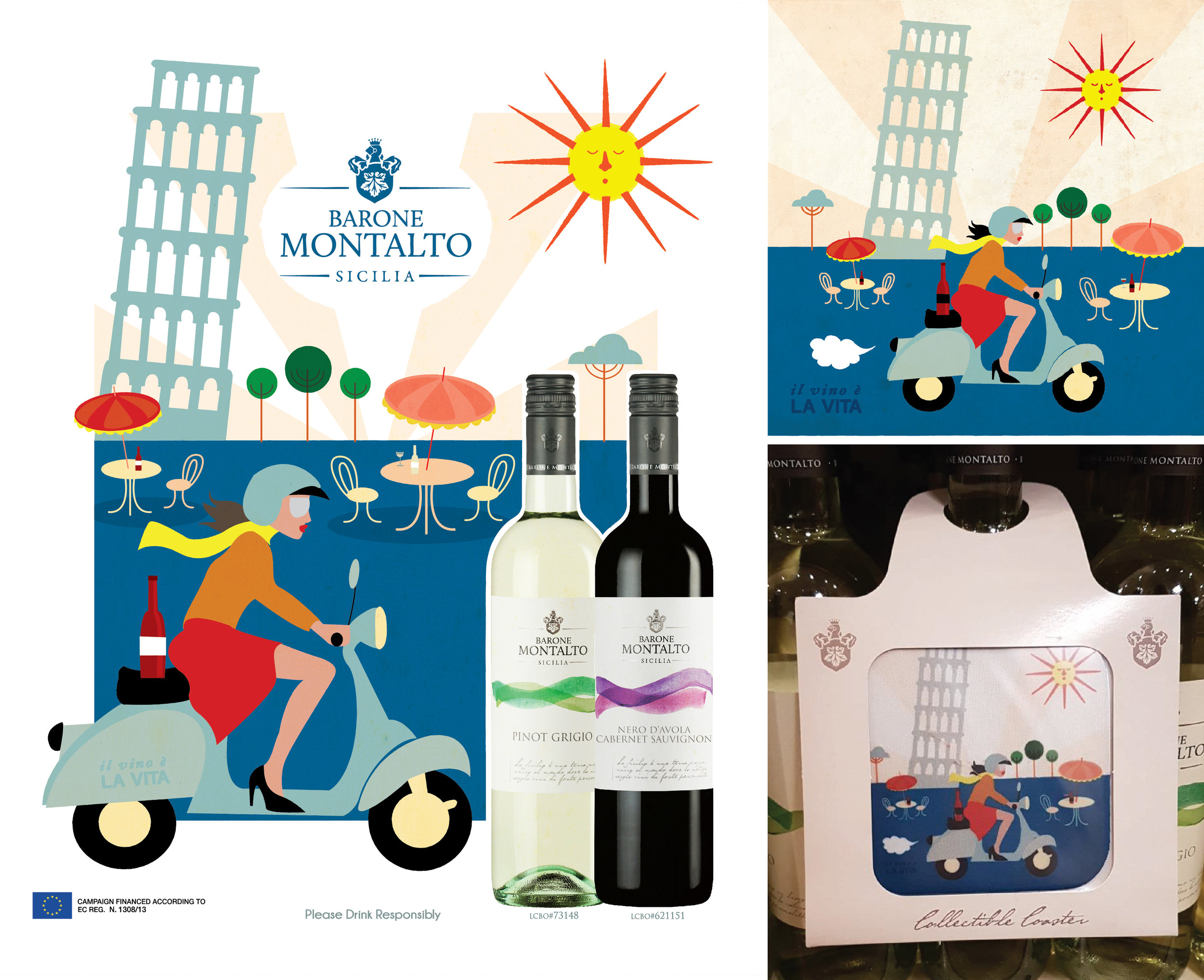 Barone Montalto Advertisements and Coasters