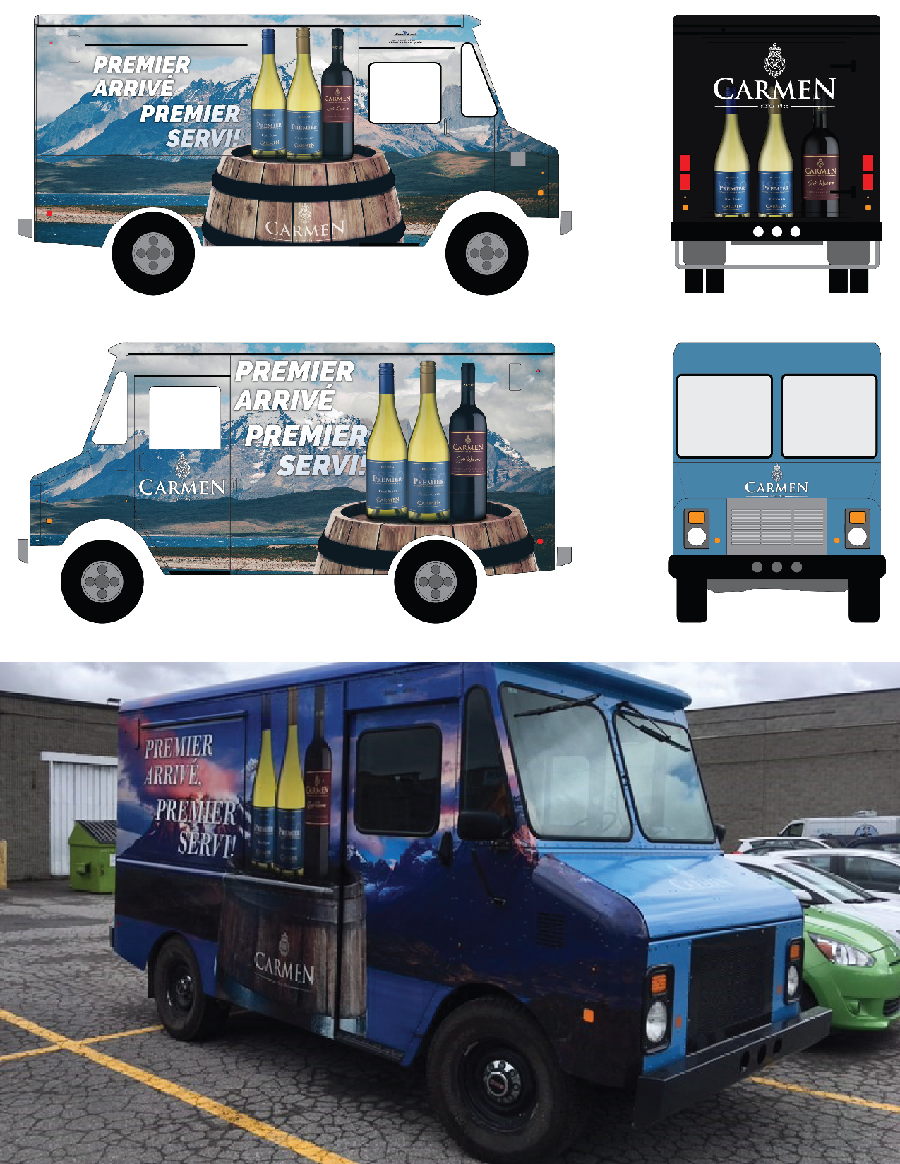 Photo Composite Food and Wine Truck Design