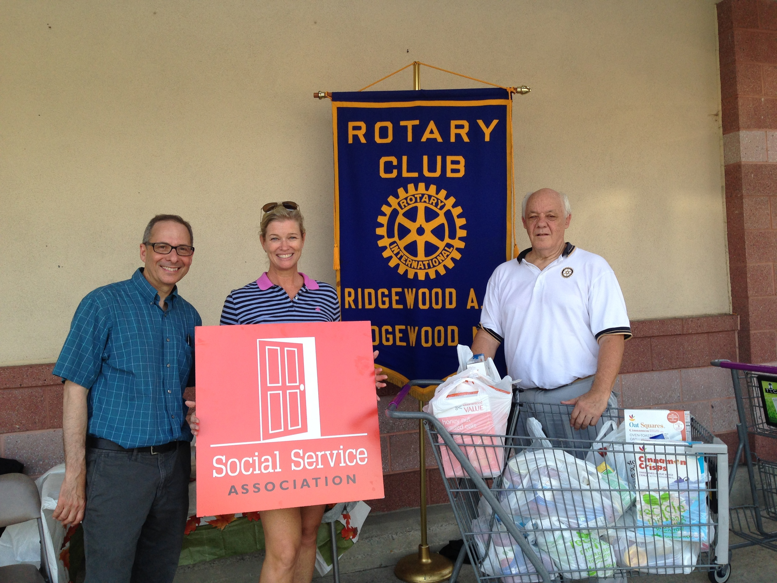 Members of the Ridgewood AM Rotary with SSA Board President Kelly Petersen