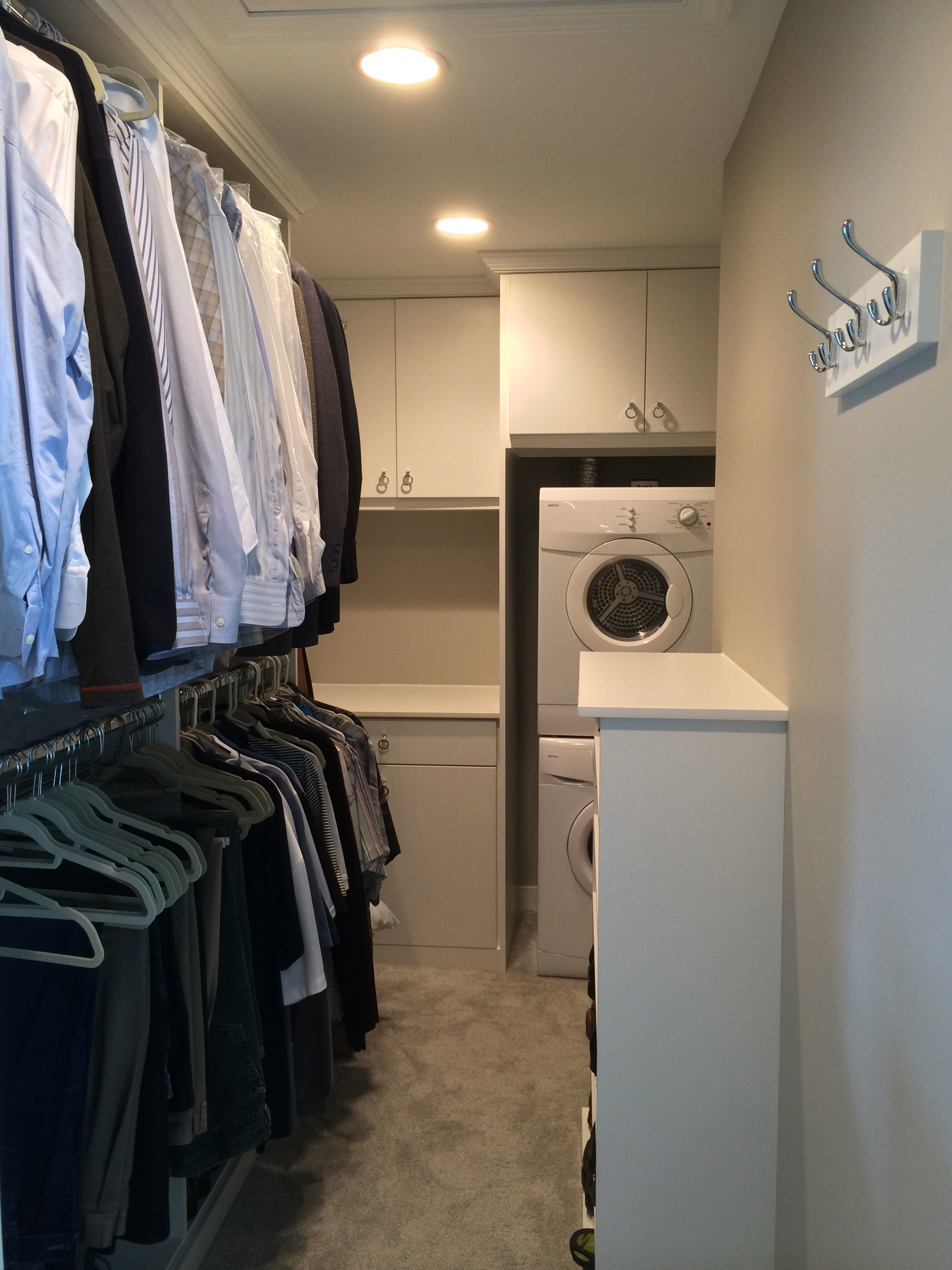 Master Closet After shower removed, laundry added