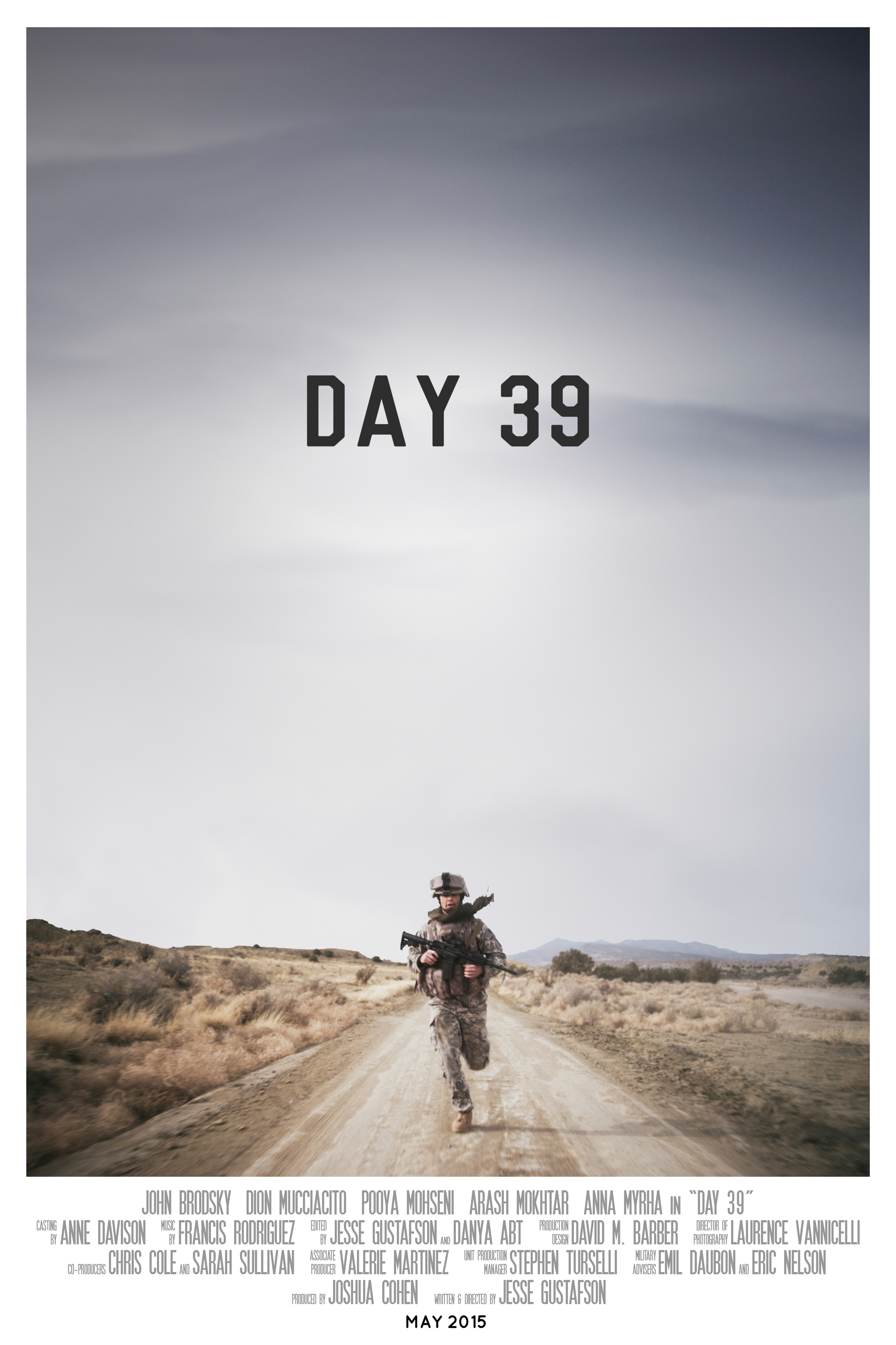 """""""DAY 39"""", Official Poster, directed by Jesse Gustafson"""
