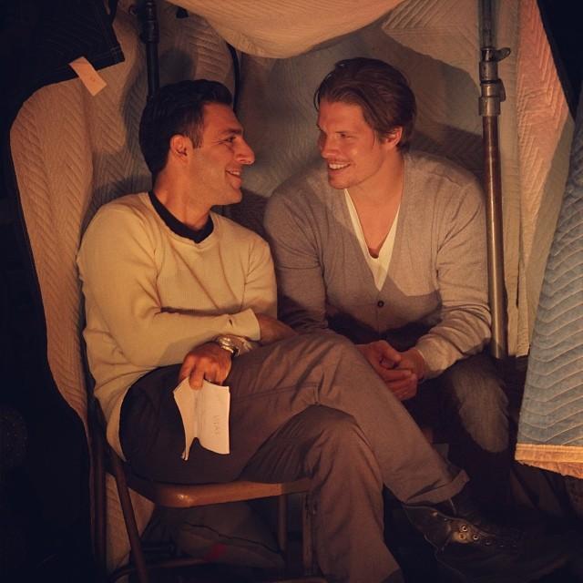 Alex Cendese & Arash Mokhtar on the set of Best Man in the Dark .jpg