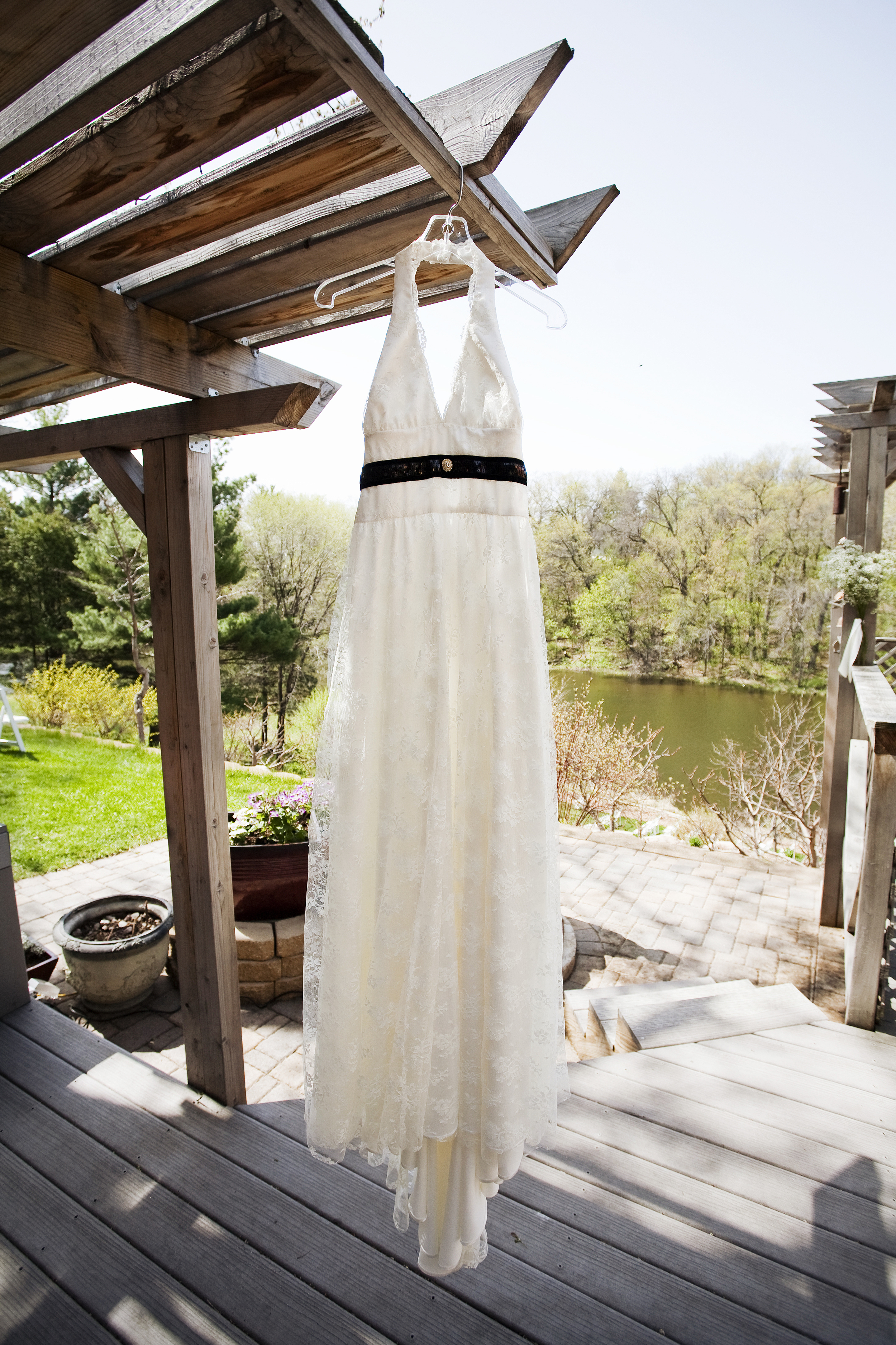 Lace custom dress by Rachel Kate