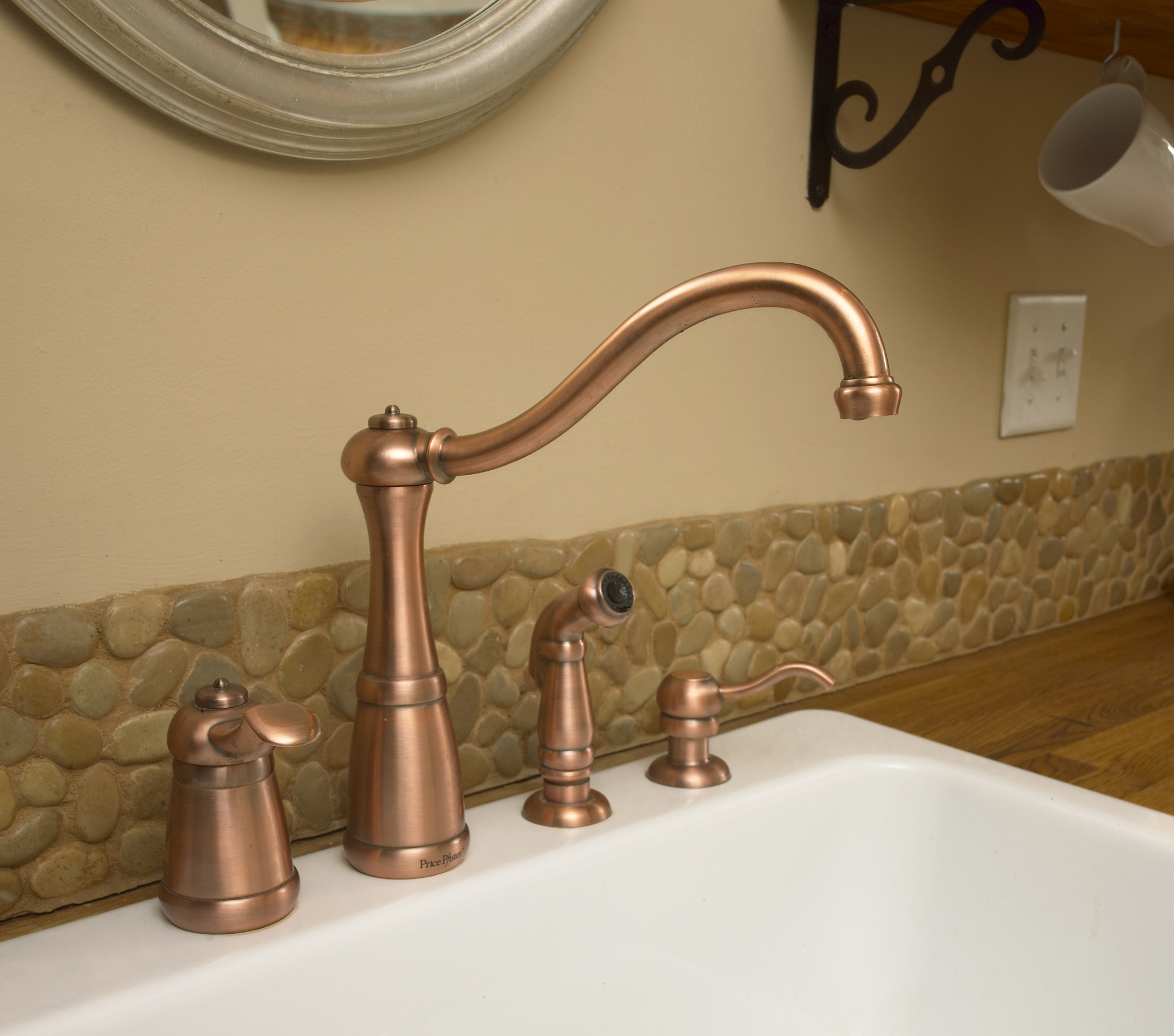 Rachel Kate Design Rustic Remodel copper faucet