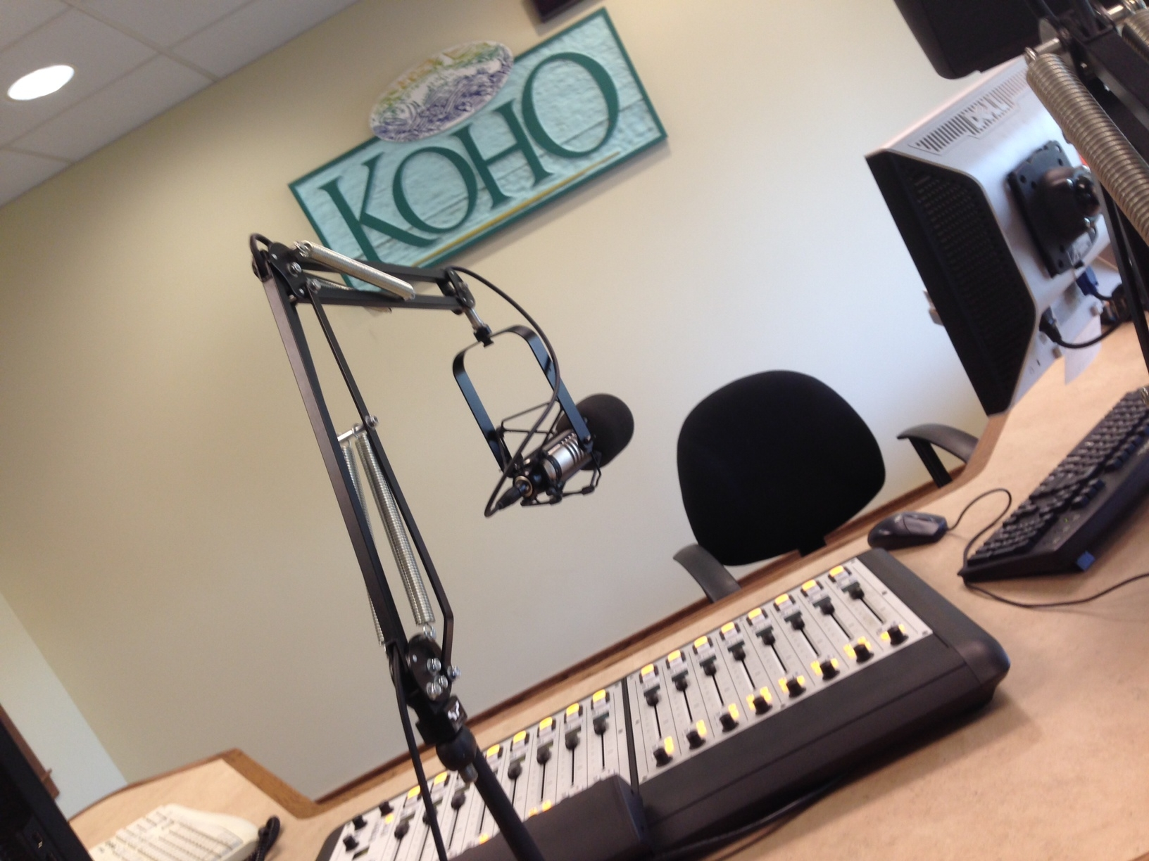 The KOHO 101.1 studios in downtown Wenatchee