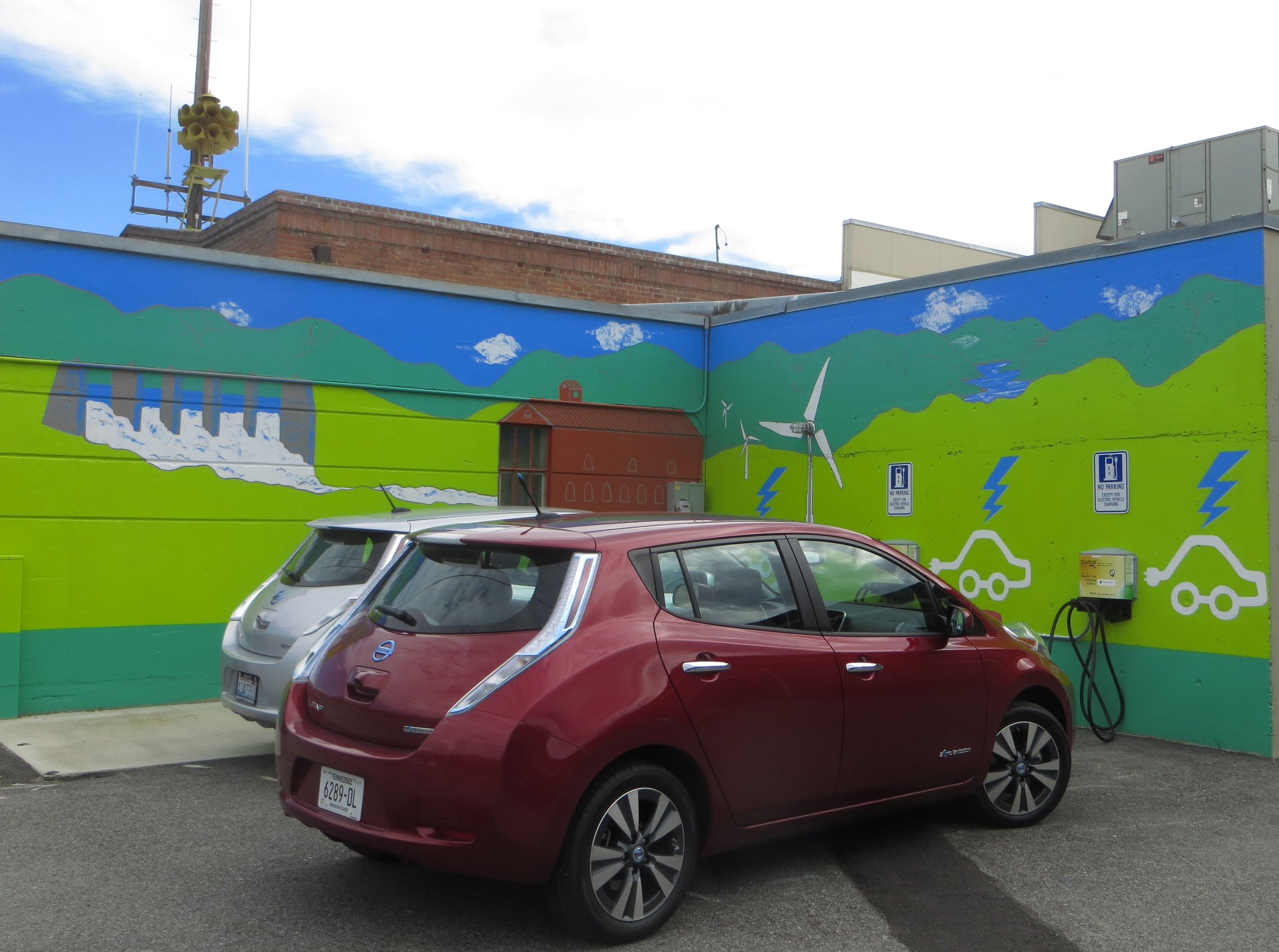 Getting a quick energy boost at the new charging stations in Chelan.