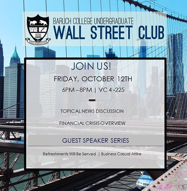 Hello everyone! Join us today, October 12th from 6PM-8PM in NVC 4-225 for our sixth meeting of the semester. As a reminder our applications for the Accelerator Program and the E-Board position are now open. Please find the link in bio! #BaruchWSC