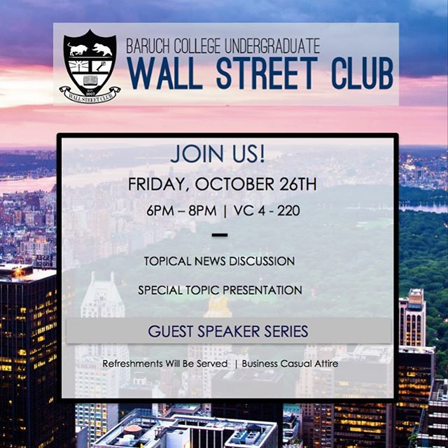 Hello everyone! Join us today, October 26th from 6PM-8PM in NVC 4-220 for our eighth meeting of the semester. As a reminder our applications for the Accelerator Program and the E-Board position are now open. Please find the link in bio! #BaruchWSC
