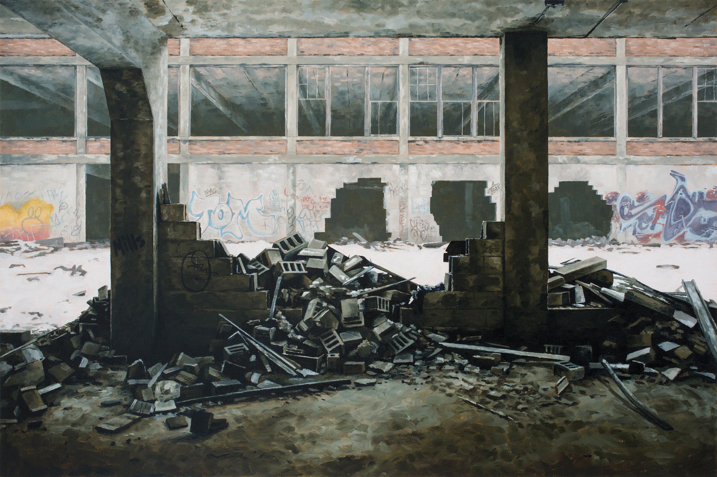 <b>STEPHANIE BUER</b><i><br>TOM</i><br>oil on canvas<br> 28 x 42 inches<br></br>
