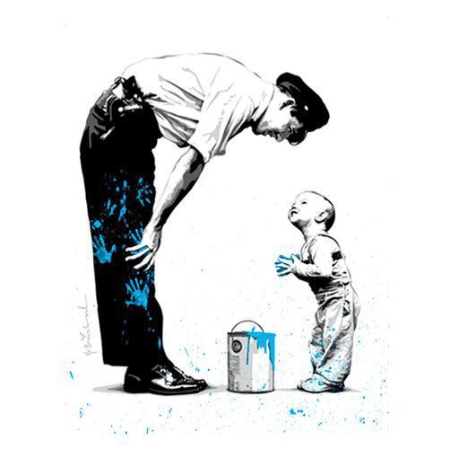 """Not Guilty,"" Mr. Brainwash, 2011."