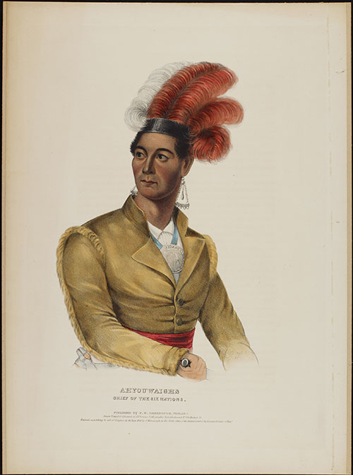 Ahyouwaighs, or John Brant. Painting by Charles Bird King.