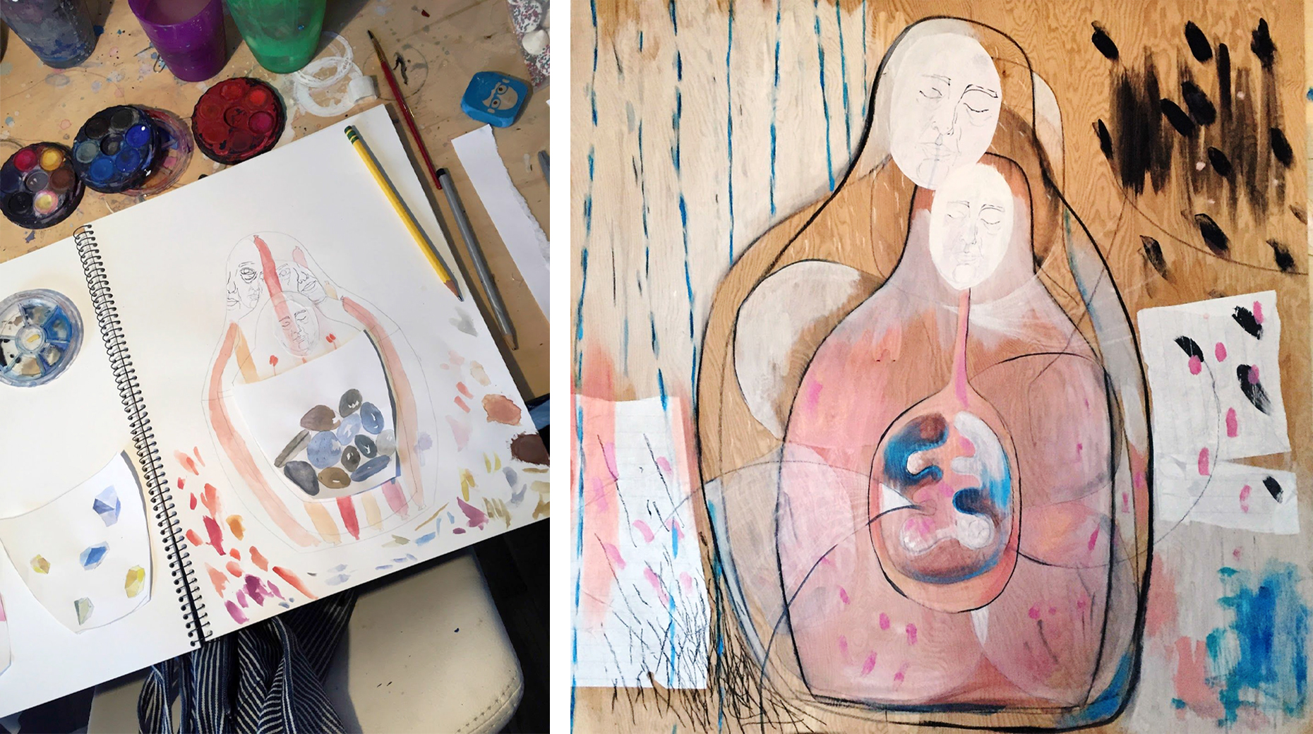 Notebook and Painting by Amada Estabillo