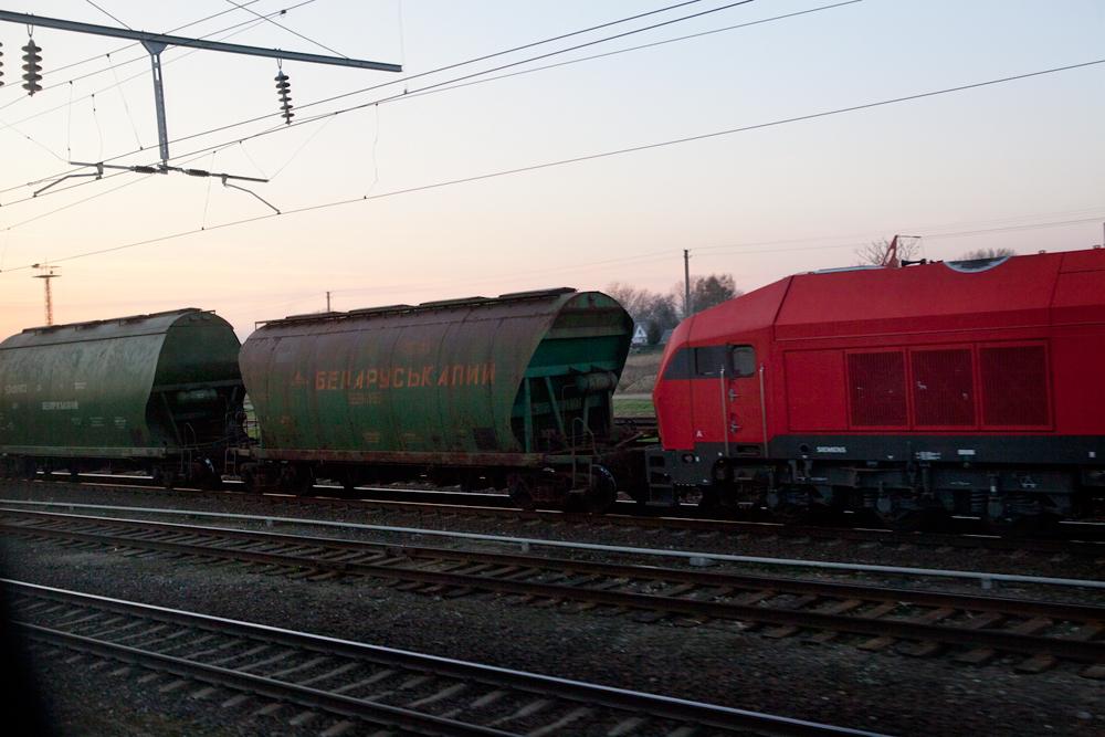 Belarusian train, Lithuania