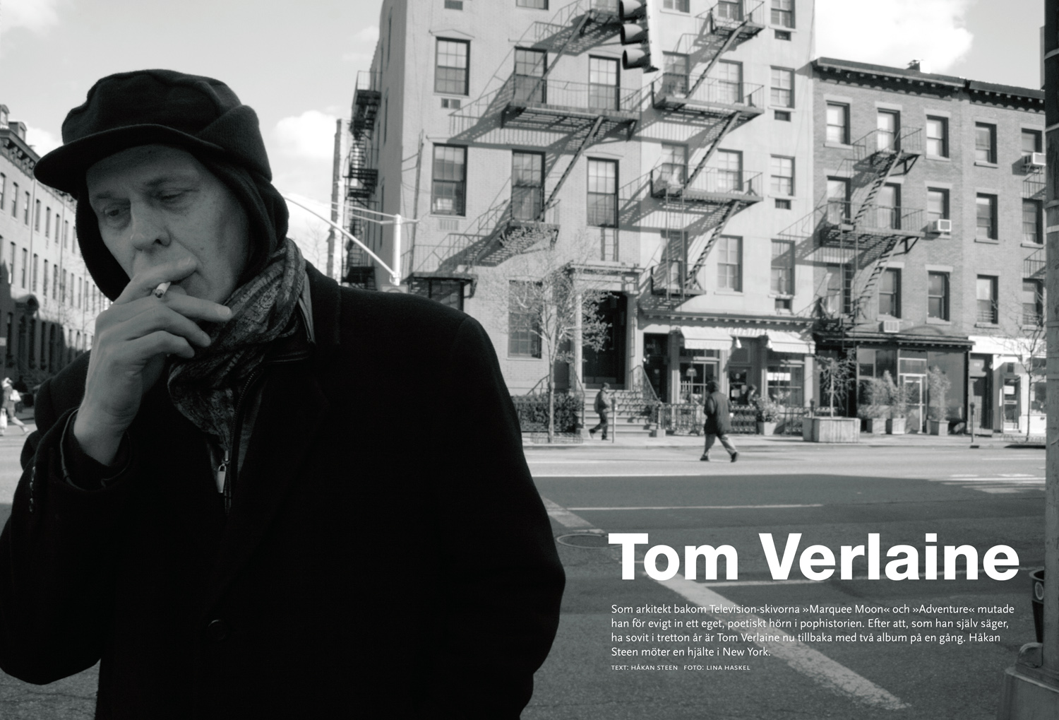 Tom Verlaine/Television, New York (Sonic magazine)