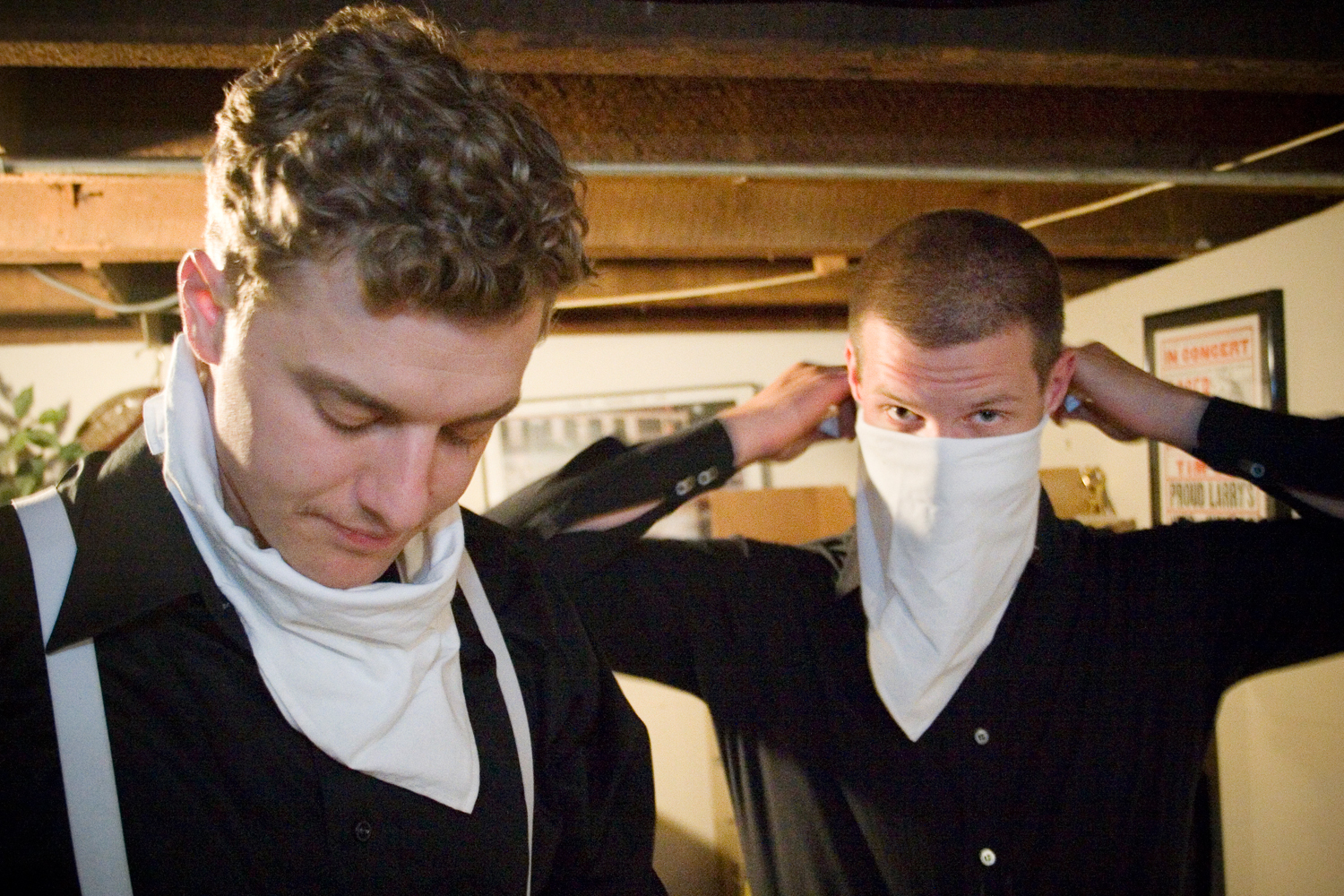 """The Hives recording """"The Black and White album"""", Oxford, Mississippi."""