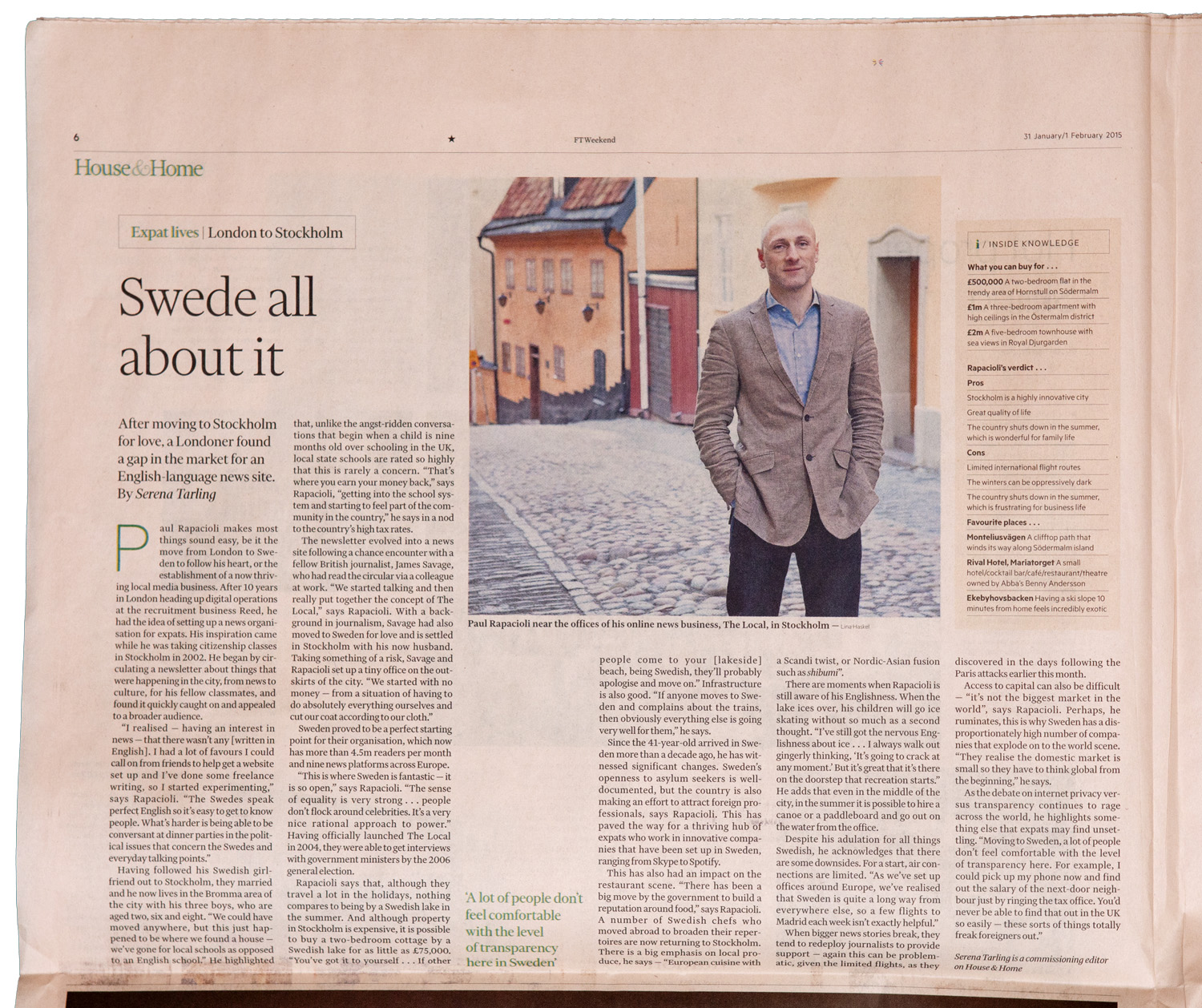 Paul Rapacioli (Financial Times)