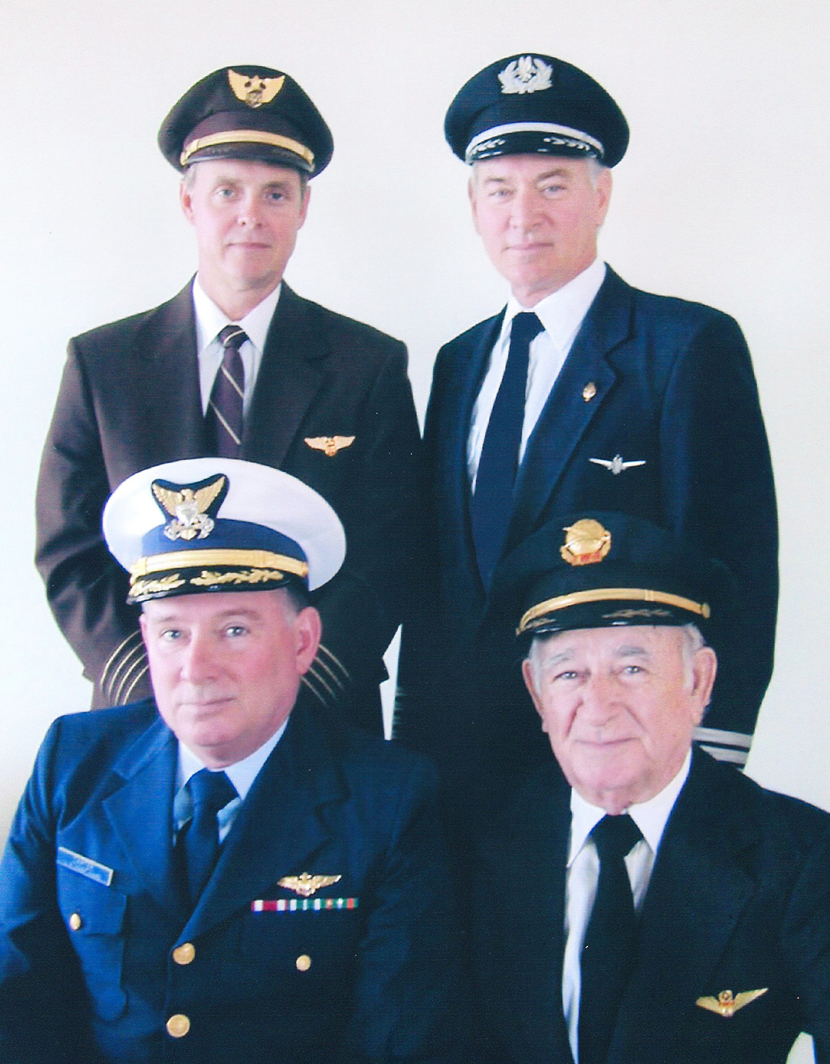 Nick Carter (top right) with his father and brothers, all pilots, 1995.