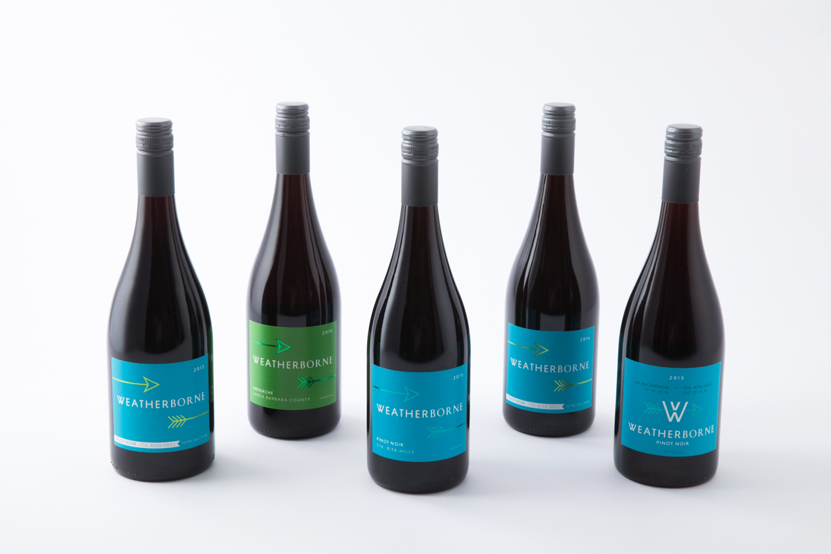 Weatherborne Wine Corp.  Pinot Noir and Grenache from Sta. RitaHills