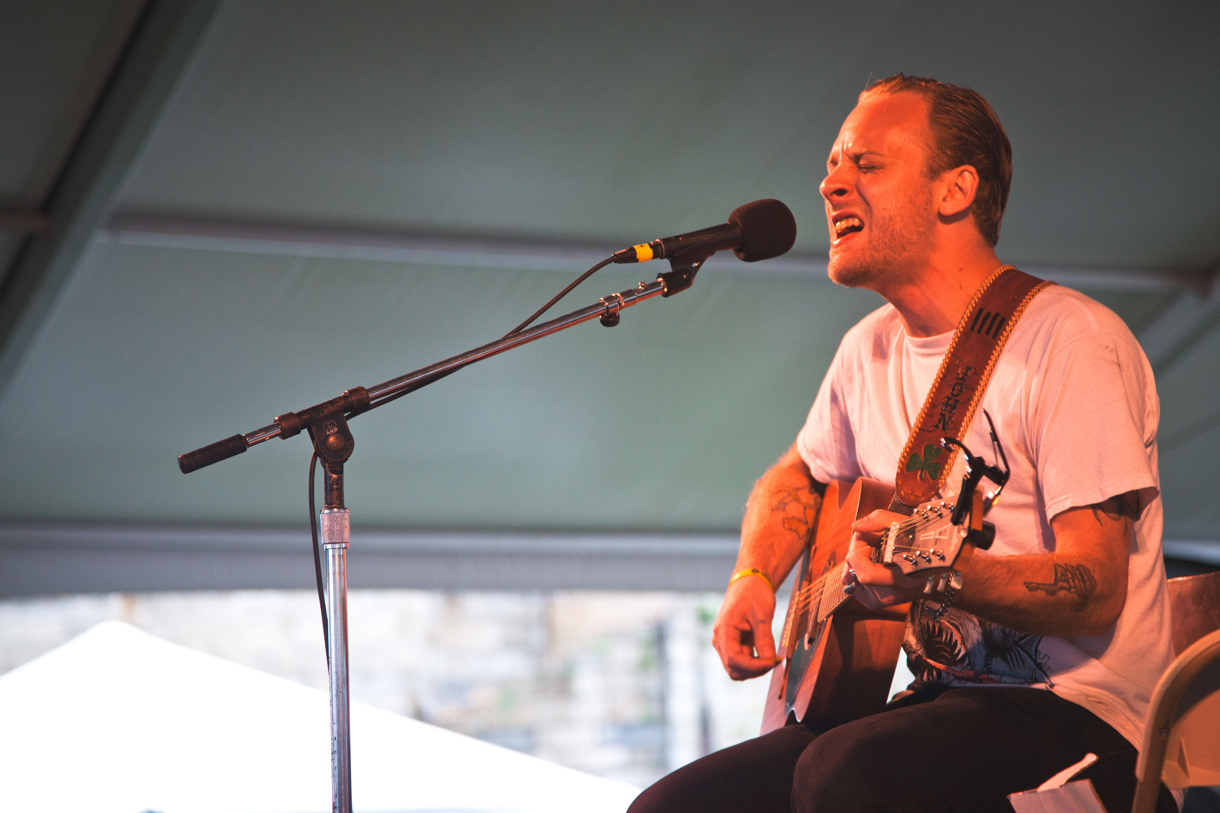 John McCauley at the 2013 Newport Folk Festival. ( Michelle K. Martin )