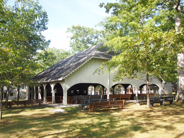 The Tabernacle was the first structure erected at Highland Park. It seats over 600 and still stands as strong as ever.