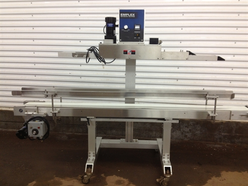 EMPLEX BAG SEALER WITH 6 INCH CONVEYER .  $11,000 or best offer.   Click here for more photos.