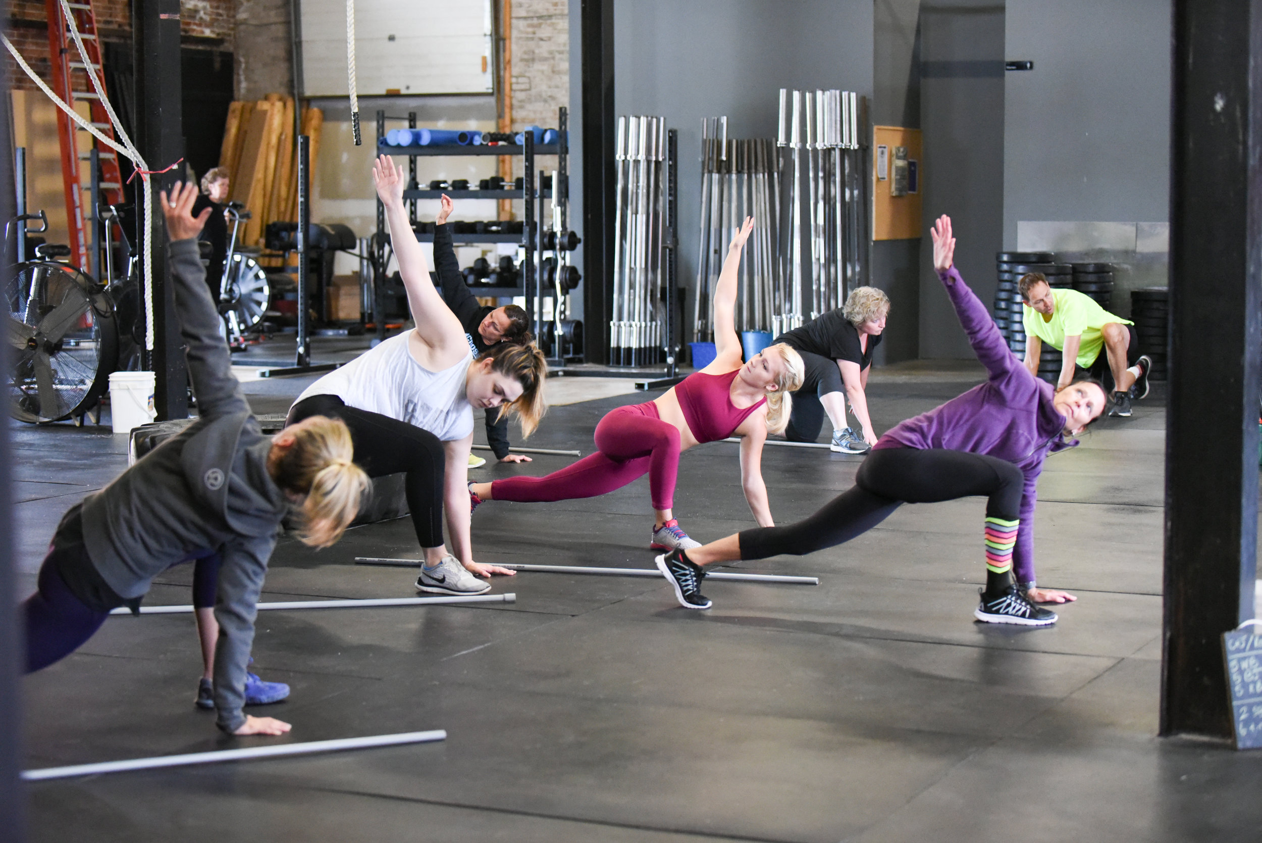 Group Training. - Far more than a group fitness class, CrossFit is individual coaching in a group setting.We offer 3 class styles all included in our membership.CrossFit WODs, BURN & BUILD.
