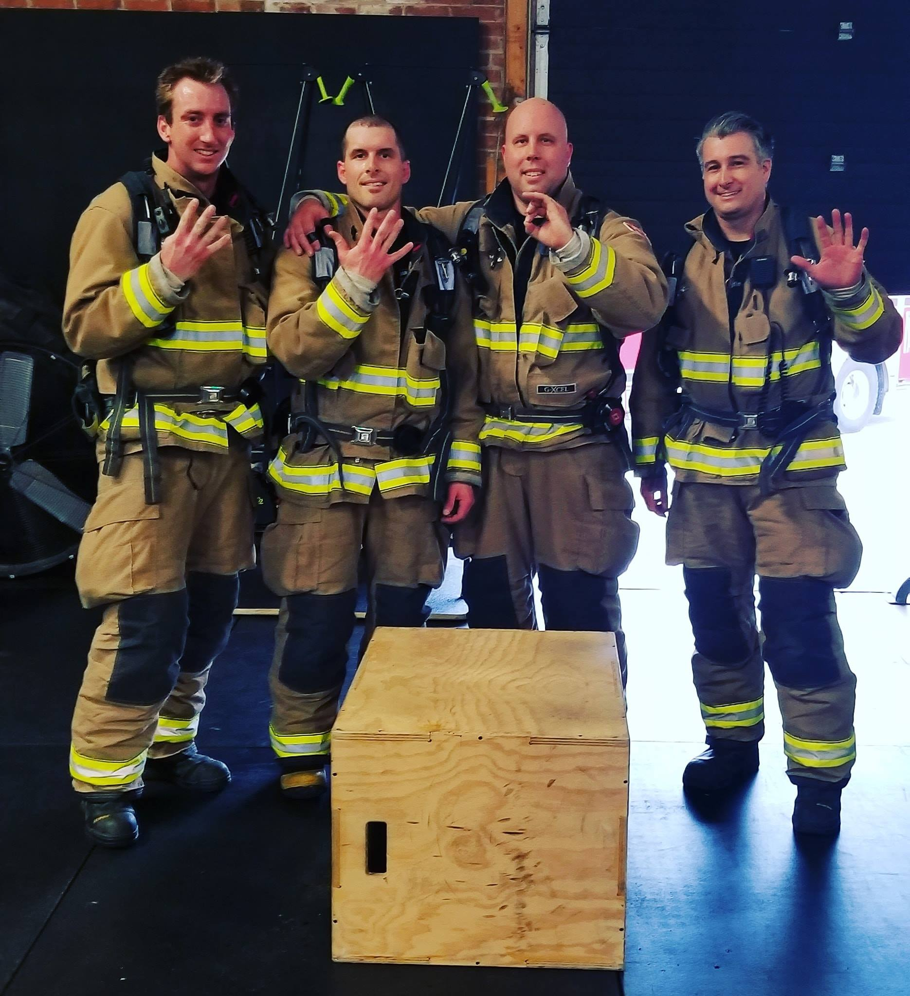 Jan. 5th - Our members took on HERO WOD CHAD. 1000 Step ups for time with weight. We also had some special guests join us: Thanks to The Brantford Fire Department for attending our hero WOD event today and raising awareness for mental health and PTSD. They took on