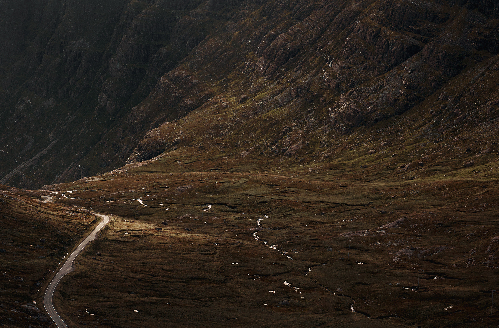 A project looking at the most dramatic roads to cycle in the north of Scotland.