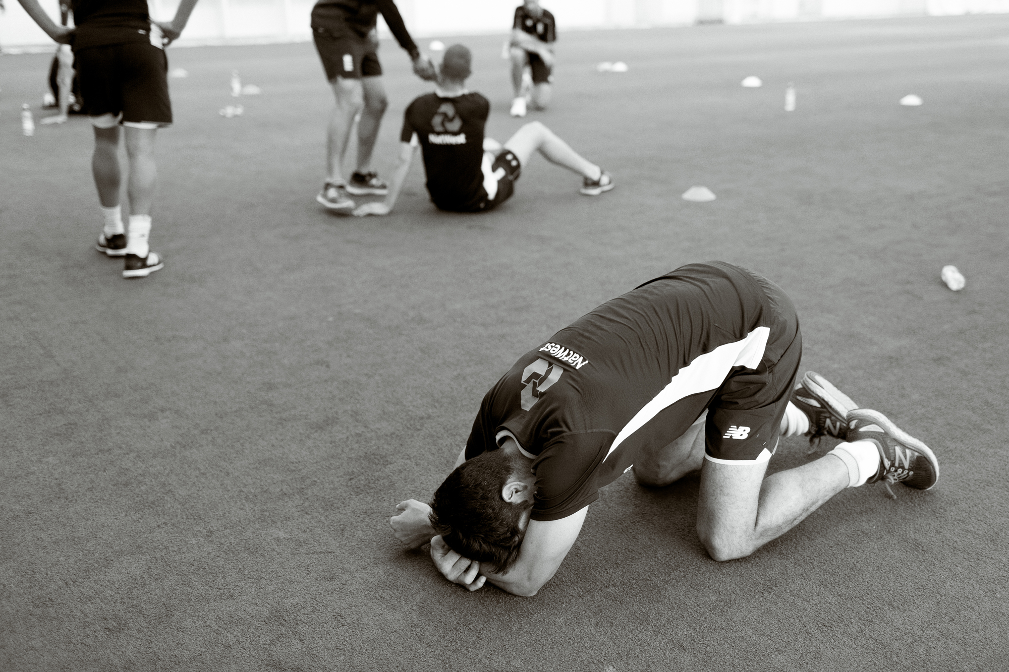 Each year the England Mens Cricket team have a fitness session - a yoyo test - to check their fitness. Its fairly brutal, and they get pushed all the way until they cannot go any more.