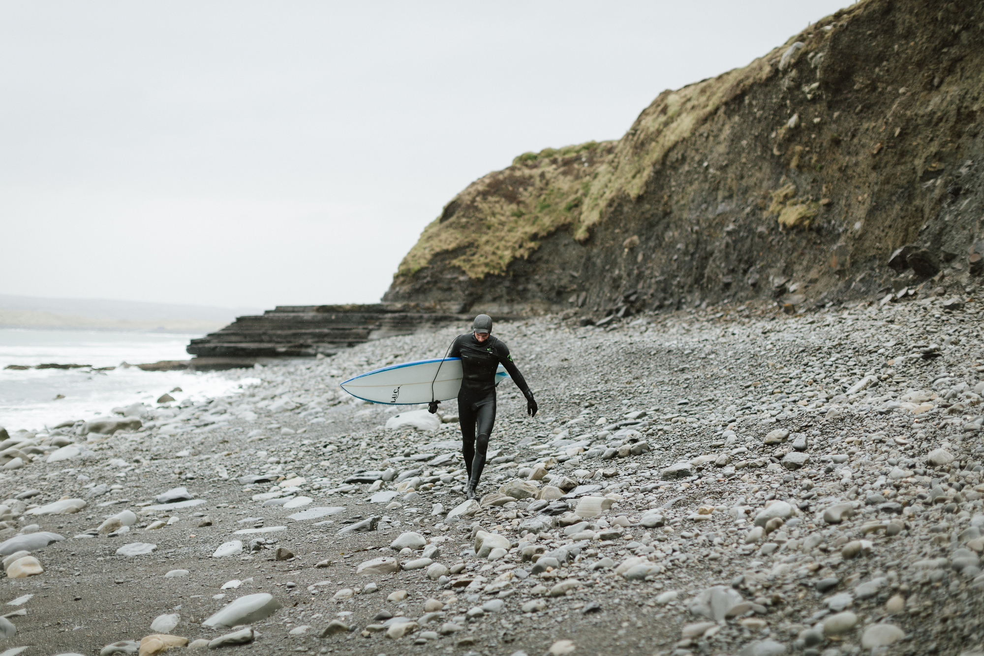 Cold water surfing on Ireland's West coast.