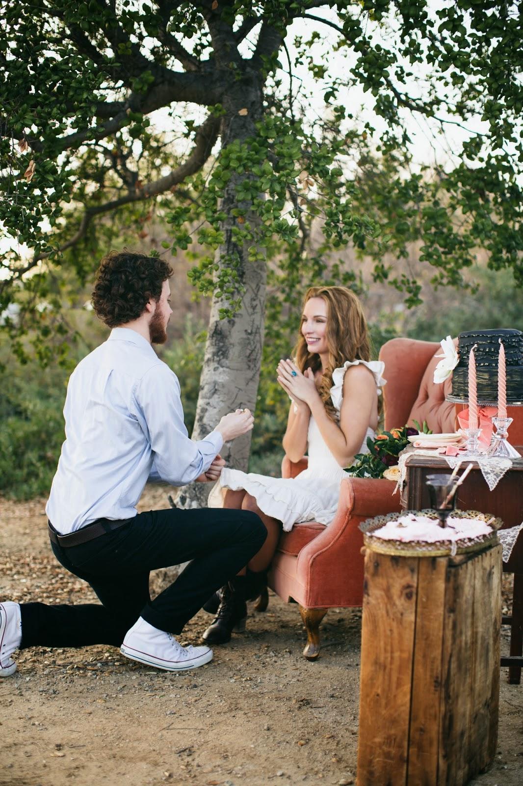 surprise engagement-sparkles and vintage