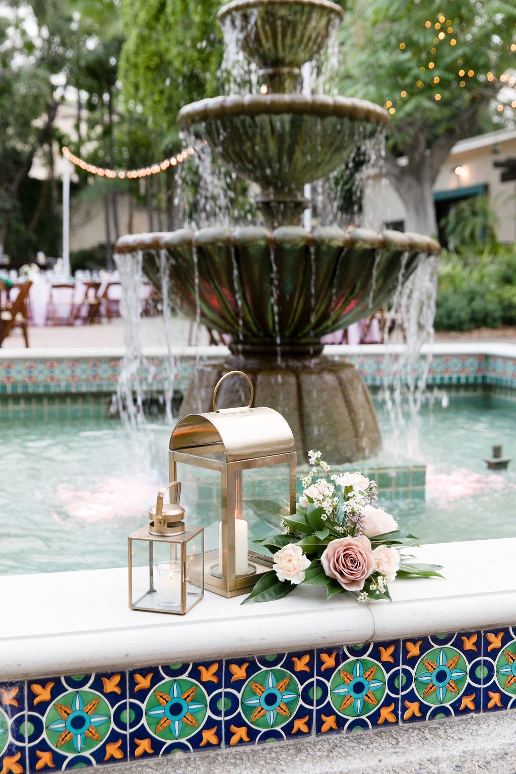 pictured above: SAV florals + mini brass lanterns & gold brass lantern