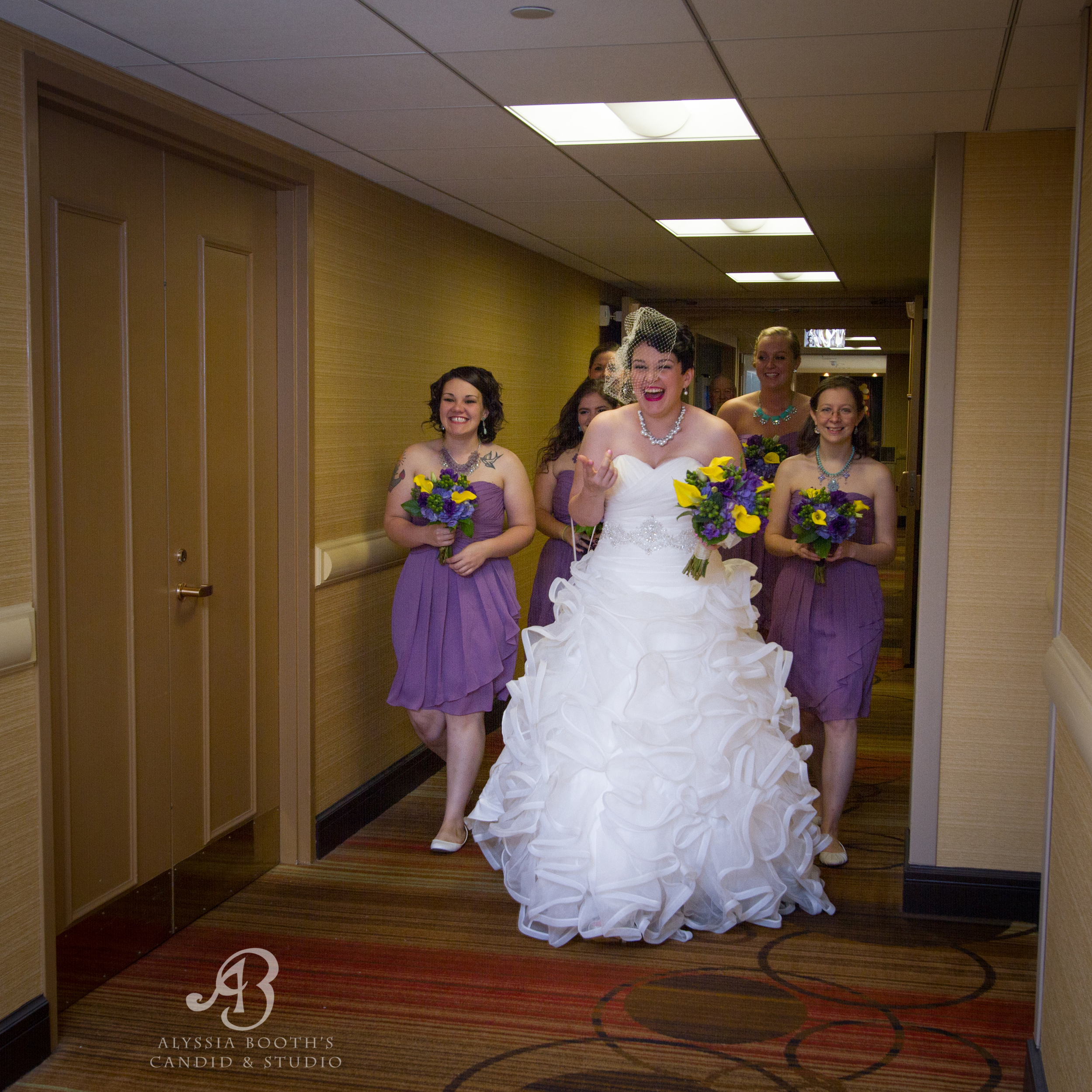 Bridal Party In The Hall