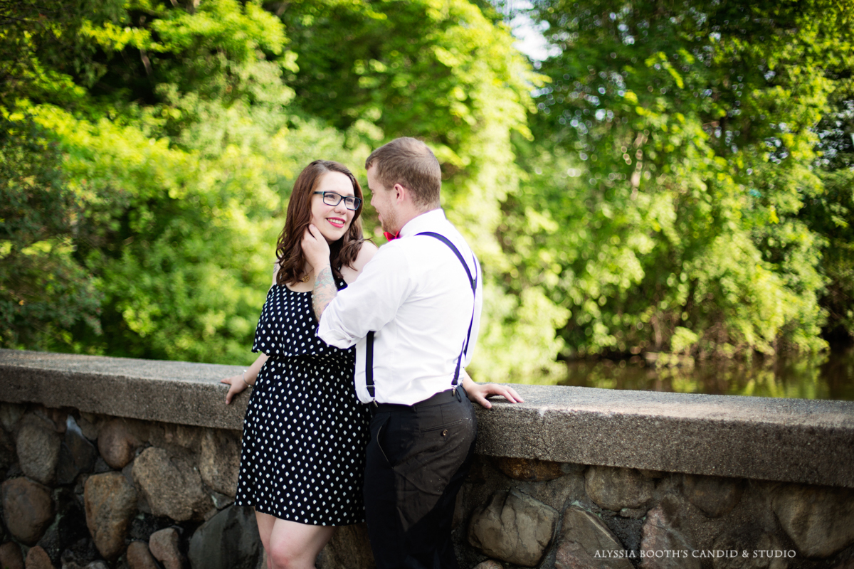 Marisa + Garrett's Engagement Photo Shoot | Kalamazoo | Alyssia Booth's Candid & Studio