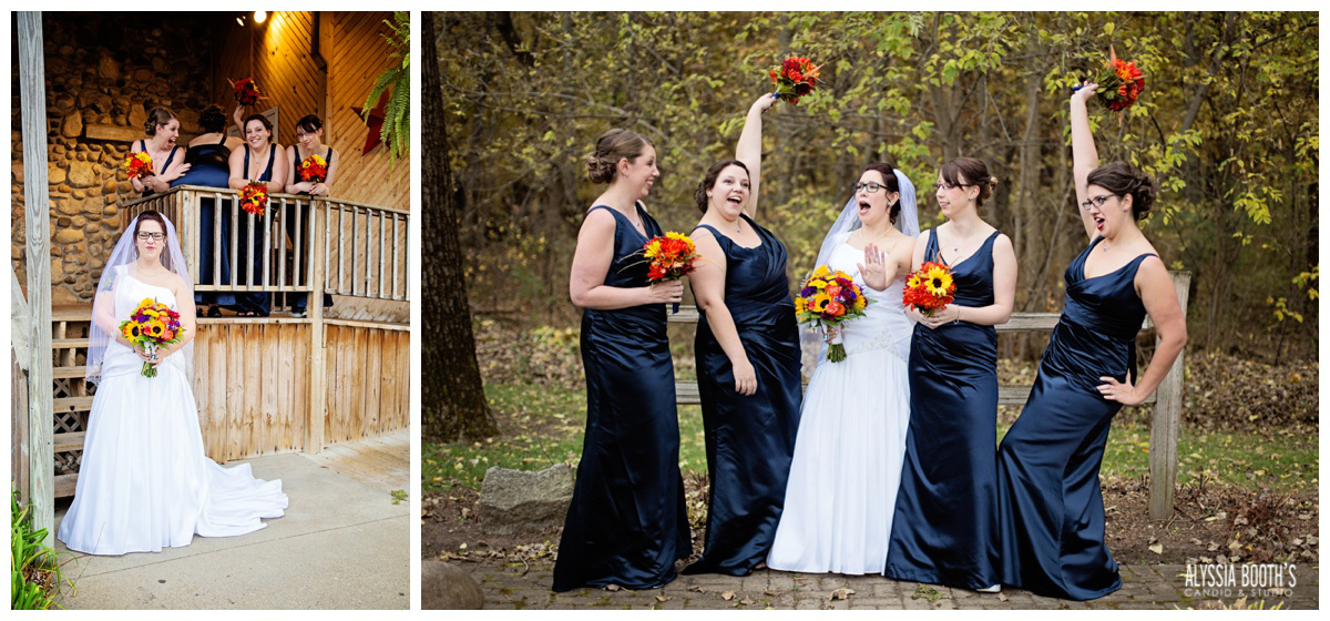 Fun With The Girls | Marisa & Garrett 10.23.15 | Wedding at the Lawton Community Center | Kalamazoo Mi
