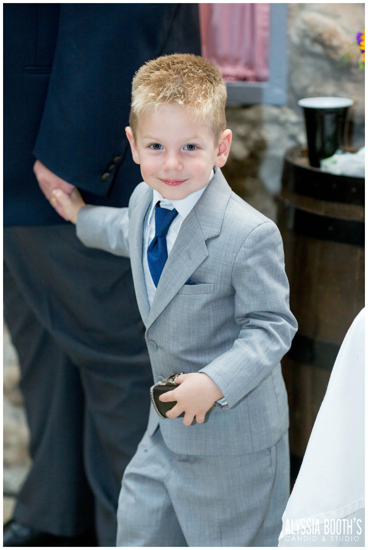 Ring Bearer | Marisa & Garrett 10.23.15 | Wedding at the Lawton Community Center | Kalamazoo Mi | Alyssia Booth's Candid & Studio
