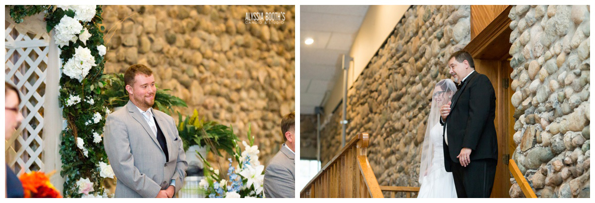 First Look | Marisa & Garrett 10.23.15 | Wedding at the Lawton Community Center | Kalamazoo Mi | Alyssia Booth's Candid & Studio