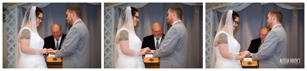 Rings 2 | Marisa & Garrett 10.23.15 | Wedding at the Lawton Community Center | Kalamazoo Mi | Alyssia Booth's Candid & Studio