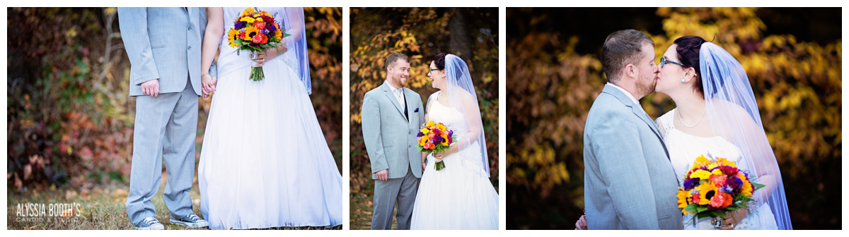 Romance Session | Marisa & Garrett 10.23.15 | Wedding at the Lawton Community Center | Kalamazoo Mi | Alyssia Booth's Candid & Studio