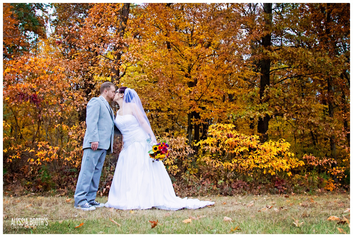 Outdoor Romance Session | Marisa & Garrett 10.23.15 | Wedding at the Lawton Community Center | Kalamazoo Mi | Alyssia Booth's Candid & Studio