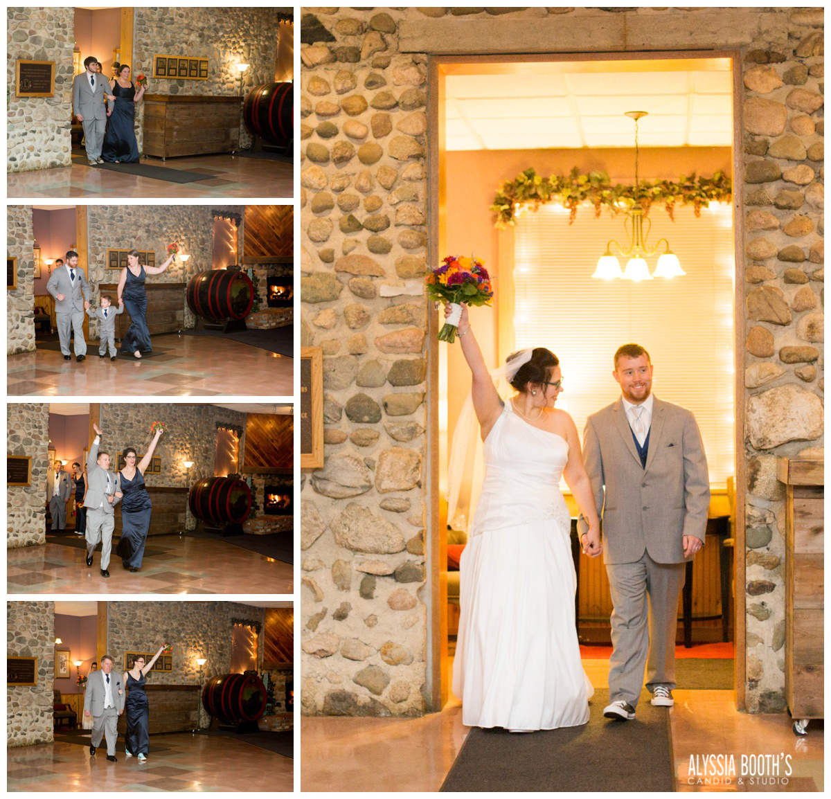 Enter The Reception | Marisa & Garrett 10.23.15 | Wedding at the Lawton Community Center | Kalamazoo Mi | Alyssia Booth's Candid & Studio