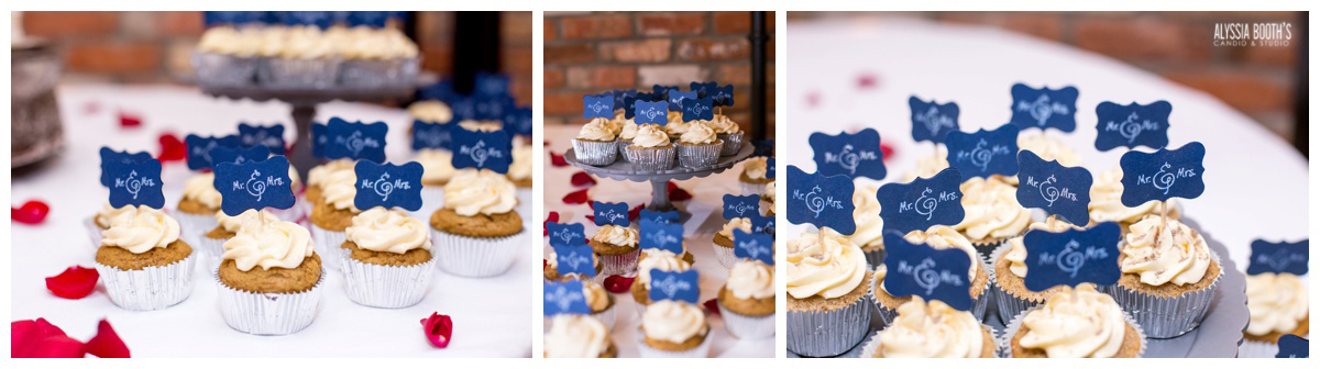 Cupcakes | Marisa & Garrett 10.23.15 | Wedding at the Lawton Community Center | Kalamazoo Mi | Alyssia Booth's Candid & Studio
