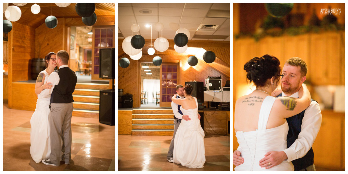 Frist Dance | Marisa & Garrett 10.23.15 | Wedding at the Lawton Community Center | Kalamazoo Mi | Alyssia Booth's Candid & Studio