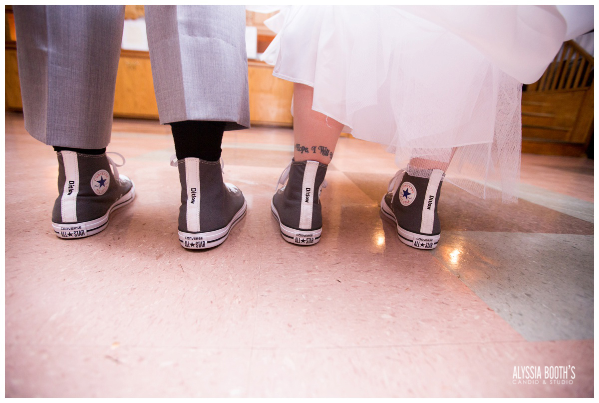 Matching Shoes | Marisa & Garrett 10.23.15 | Wedding at the Lawton Community Center | Kalamazoo Mi | Alyssia Booth's Candid & Studio